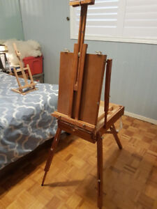 French portable art easel
