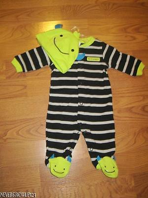 CARTER'S MY 1ST HALLOWEEN COSTUME~INFANT~BOY MONSTER OUTFIT & HAT~NB~6 MO~NWT - Carter's My First Halloween Outfit