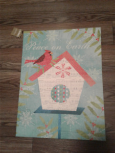 2 Christmas Art pieces – ready to hang or display on an easel