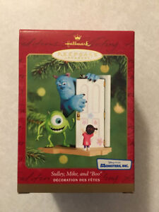 """MONSTERS, INC. """"Sulley, Mike, & Boo"""" Hallmark Ornament (2001)"""