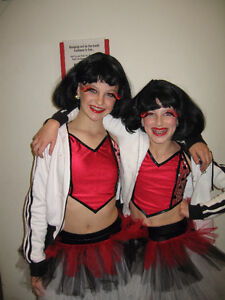 Girls Dance costume- red and black