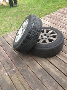 Set of four VW Passat 2002 Summer tires with mags