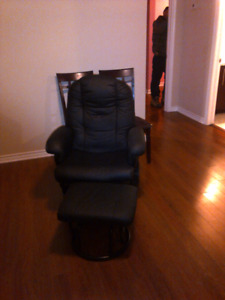 swivel rocking chair and stool
