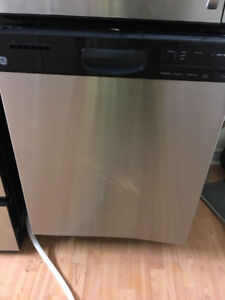 """2016 GE stainless steel in out dishwasher 24"""" under counter"""