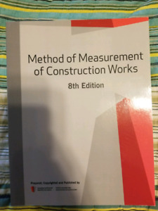 Method of measurement of construction works 8th edition