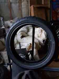 New motor cycle front tire
