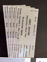 4 Janet Jackson 6 row (floor) tickets