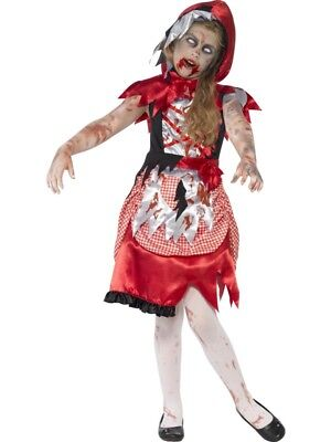 Zombie Red Riding Hood Dress Costume Fancy Dress Small 4-6 Halloween - Scary Red Riding Hood Halloween Costumes