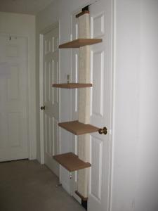 Four level door mounted cat tree