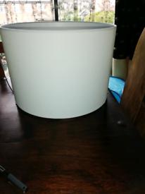 Large cream cotton lampshade