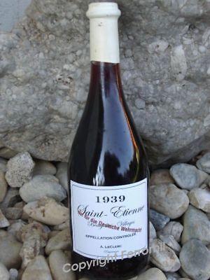 Wehrmacht Wein Etiketten 1939 4 Stück LW WW2 WKI WKII Wine Label Sticker WH