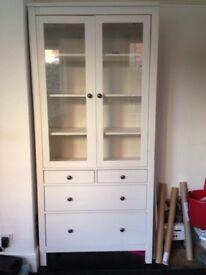 ikea cabinet - bookshelf with glass door