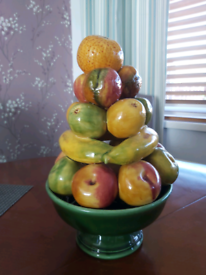 Retro ceramic fruit