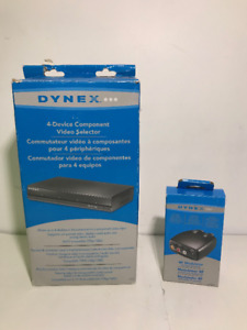 AS-IS DYNEX COMPONENT VIDEO SELECTOR AND RF MODULATOR - MNX