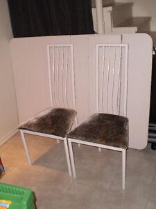 Grande table en mélamine avec rallonge et 6 chaises