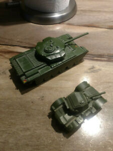 Dinky Supertoys - 1950's Army Tank and Armored Car (Antique)