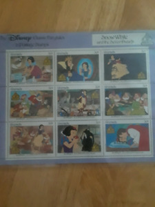 snow white and the seven dwarfs stamps