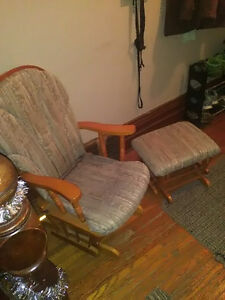 gliding rocking chair and foot stool