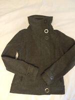 Lululemon Brown Tweed Bomber Jacket Size 4