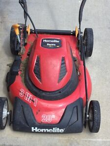 Home lite electric mower 20""