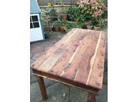 Solid wood 6 seat dining table and chairs