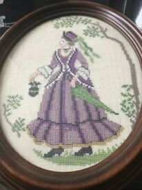 Two cross stitch pictures