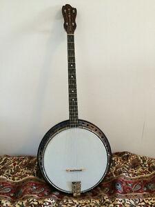Light, fun, beautiful Old Craftsman tenor banjo