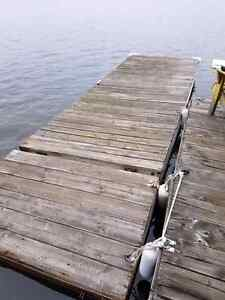 16ft x 6ft floating dock with 4ft x 6ft ramp with pins