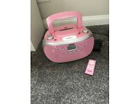 BUSH pink cd/iPod dock stereo with remote