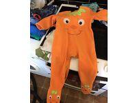 Free baby Halloween pumpkin babygrow