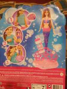 Brand new barbie mermaid bubbles doll for $25.firm price. Windsor Region Ontario image 2