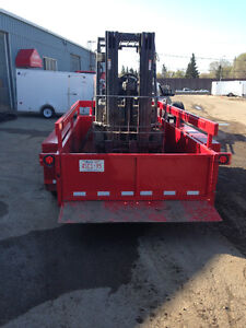 """USED 7x14' """"Air-Tow"""" (ground level loading) trailer"""