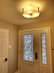 Modern style semi-flush ceiling light