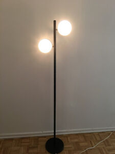 Carpets & Two Headed Black Floor Lamp FOR SALE