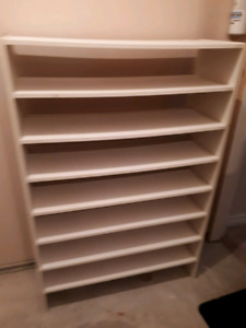 WHITE SHELVING ( 4 Sections)