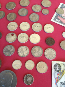 Mixed lot coin collection silver old misc.