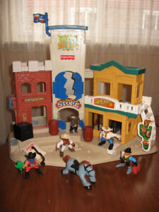 Fisher Price- western town with accessories