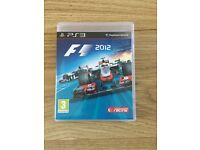 PS3 F1 2012 Game