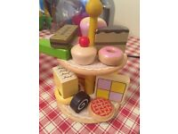 Wooden cakes