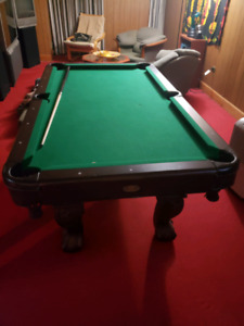 Apartment size pool table
