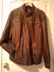 Point Zero Men's Faux Leather Jacket
