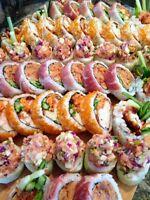 """Un menu de sushis à volonté !""""- Traiteur a domicile."""