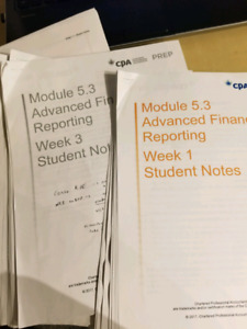 CPA ADVANCED FINANCIAL REPORTING NOTES