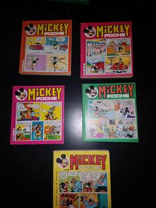 5 livres Mickey Poche de 1976' (en francais)