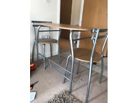 Space saver table & 2 chairs! Slim line perfect for a 1/2 bedroom flat -
