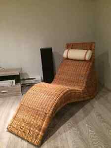 Chaise longue en rotin - Rattan lounge chair