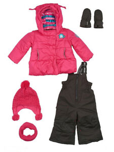 New GUSTI!  Little Girl's Five-Piece Snowsuits – size 2T