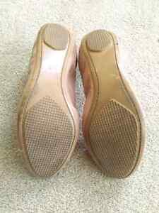 """Nude/""""Snakeskin"""" Ballet Flats Size 10 Stratford Kitchener Area image 3"""