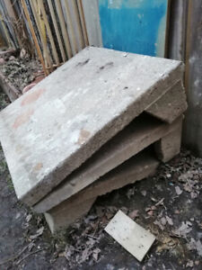 3 pieces of Concrete Step and Riser