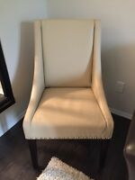 Set of Two Leather Accent Chairs